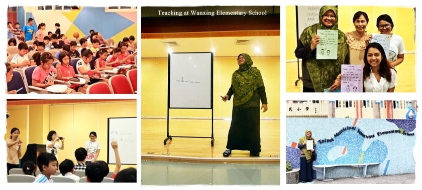 Teaching at Wanxing Elementary School