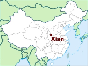 Map-of-Xian-Location-in-China
