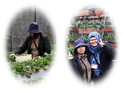 Bersama Mrs. Guo, si pemilik kebun nan ramah